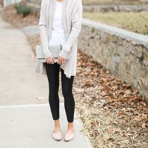 LUCKY BRAND • Leather Metallic Nude Emmie Flats